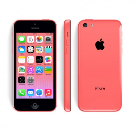 iphone 5c 32gb rose comme neuf reconditionn 149 00 sur destock source. Black Bedroom Furniture Sets. Home Design Ideas