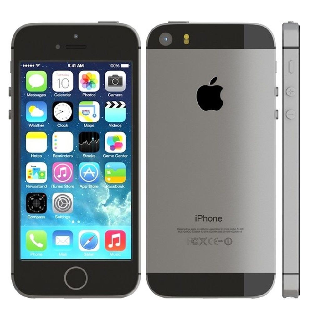 iphone 5s 32gb gris sid ral comme neuf reconditionn 196. Black Bedroom Furniture Sets. Home Design Ideas