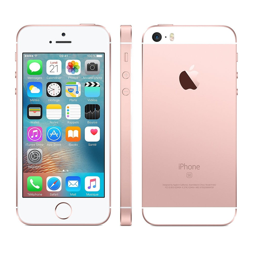 iphone se 64gb or rose comme neuf reconditionn 342. Black Bedroom Furniture Sets. Home Design Ideas